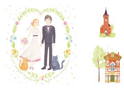 Illustrationen Hochzeit Martina & Martin