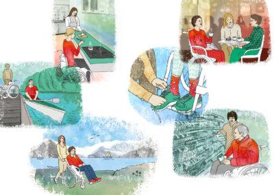 Illustrationen für Visitas - Persönliche Assistenz